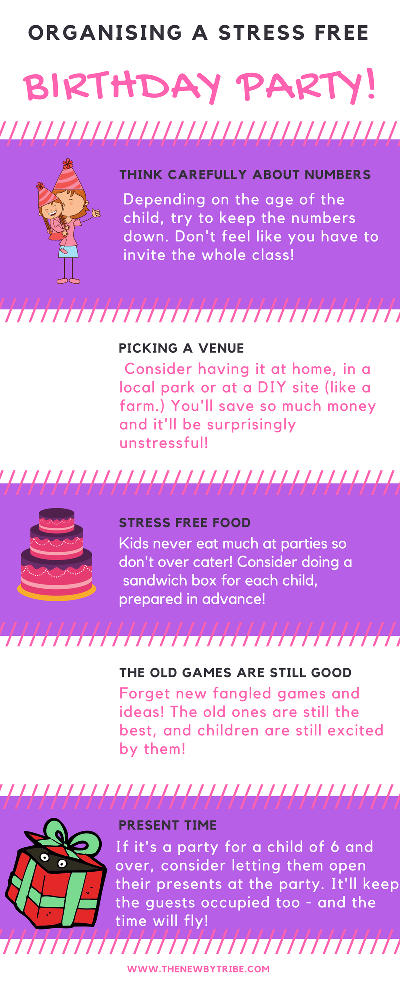 Organising a stress free birthday party
