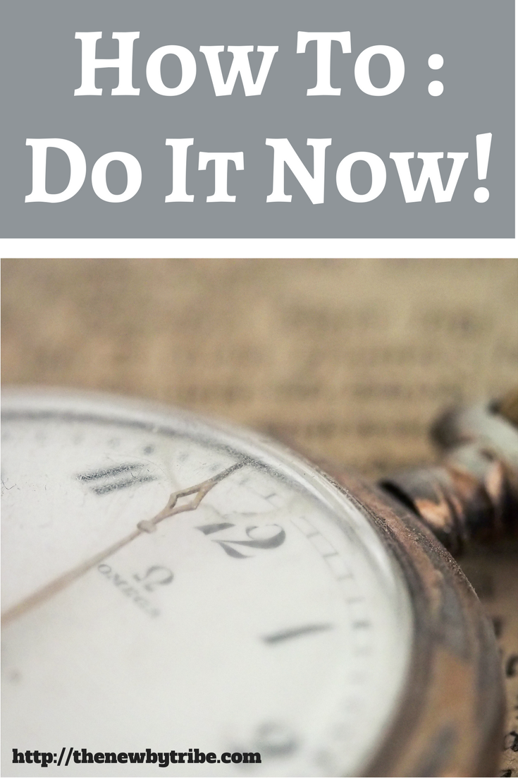 It can be so easy to procrastinate and get nothing done - but have you tried embracing the idea of Do It Now?