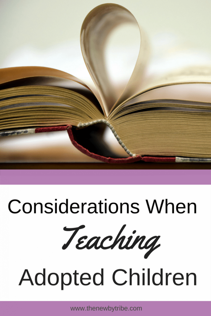 Teaching adopted children can come with a number of pitfalls.  Here we discuss some issues with the curriculum which can be easily solved.