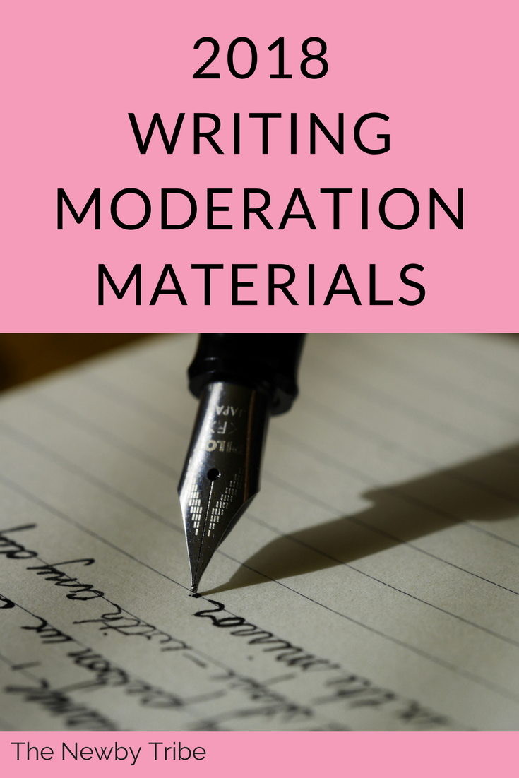 2018 Writing Moderation Materials